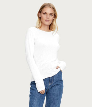Kristen Long Sleeve Slub Tee
