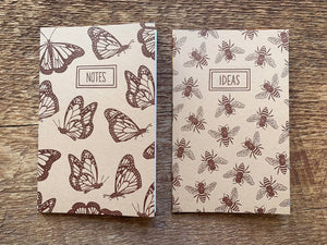 Honey Bees & Monarchs Pocket Notebook, Set of 2