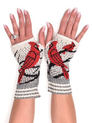Hand Warmer Fingerless Gloves - Cardinal