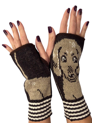 Hand Warmer Fingerless Gloves - Dachshund