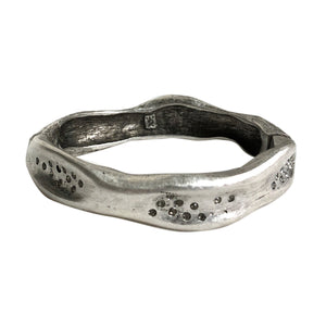 Vintage Silver Medium Impression Bangle