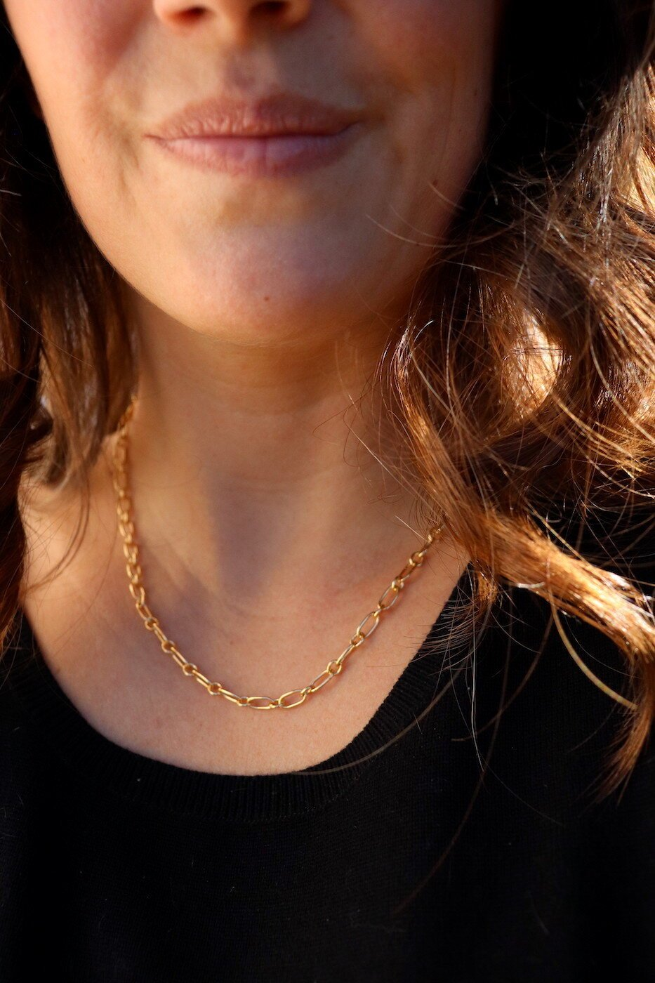 "Gold 16.5"" Chain Necklace"