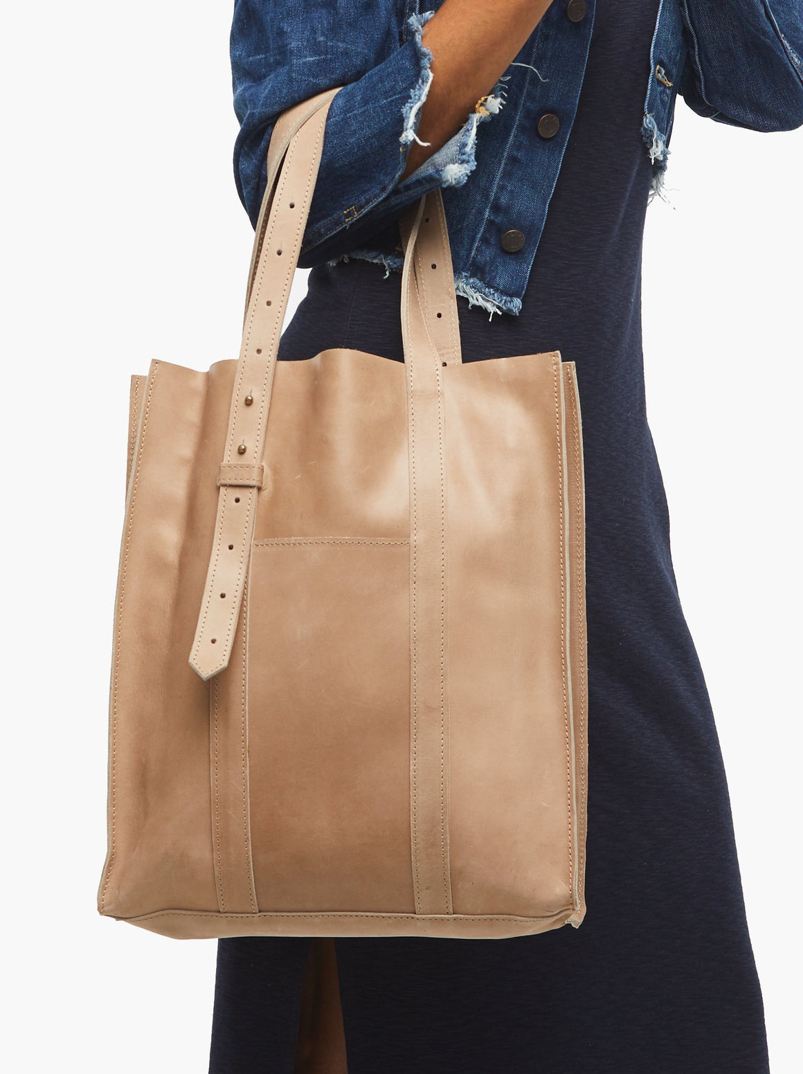 Elsabet Adjustable Tote -Fog