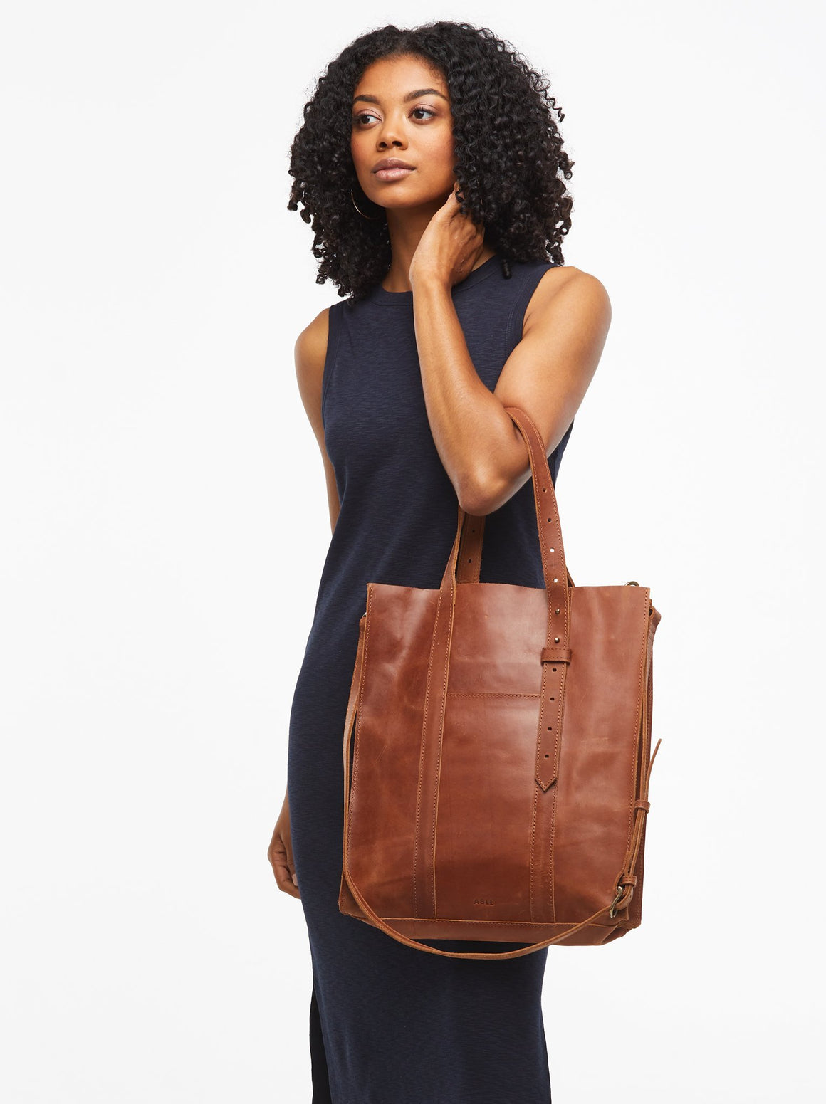 Elsabet Adjustable Tote -Whiskey