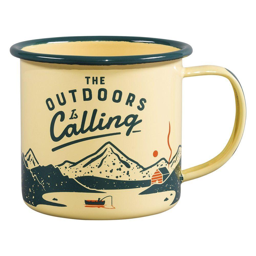 Outdoors Calling Enamel Mug