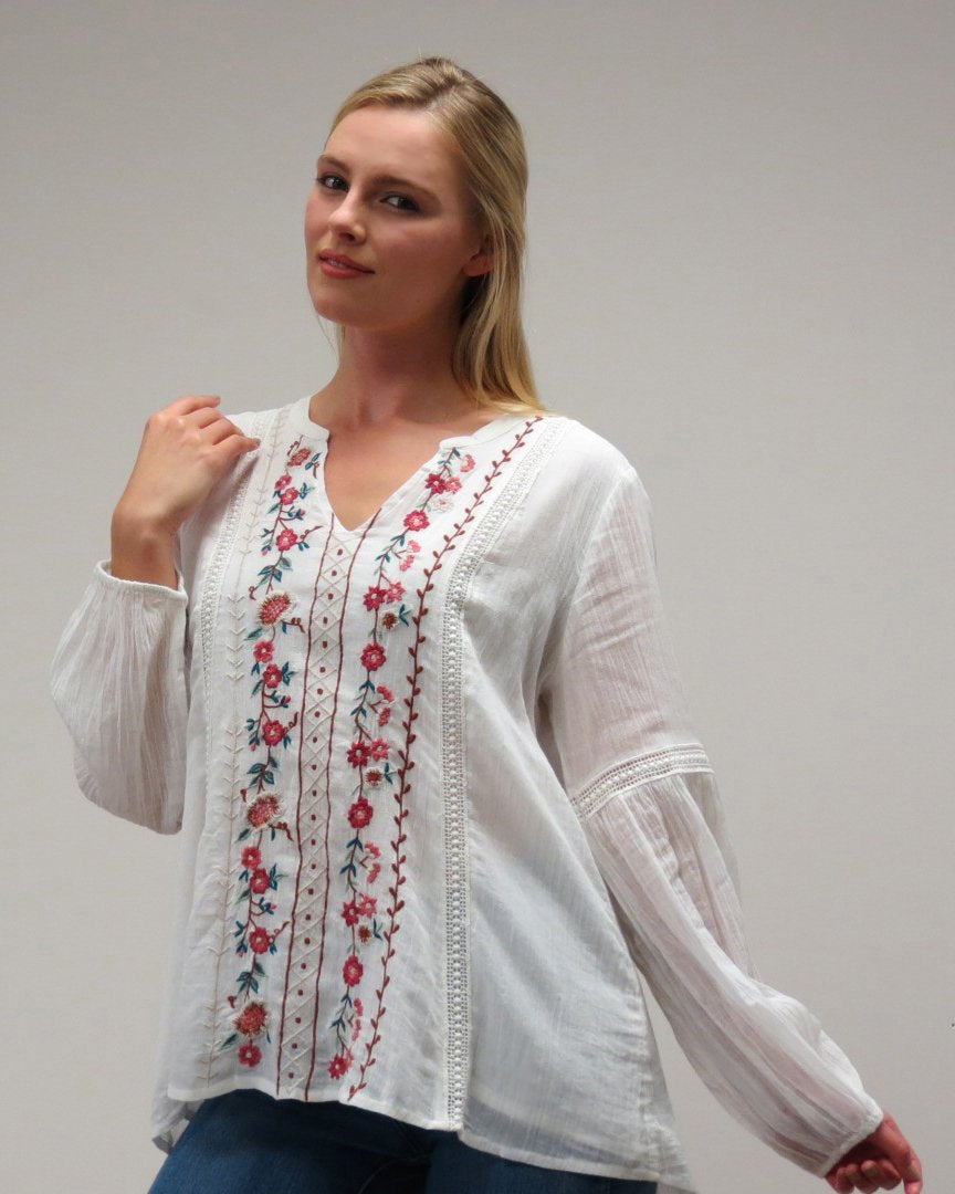 Hazel Blouse - White