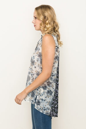 Blue Mix Sleeveless