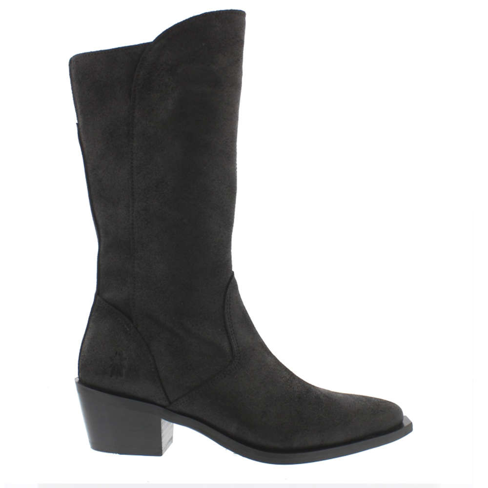 Black Ilat Leather Boot