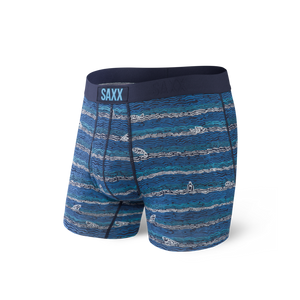 Ultra Men's Boxer Brief - Navy Fishing Line