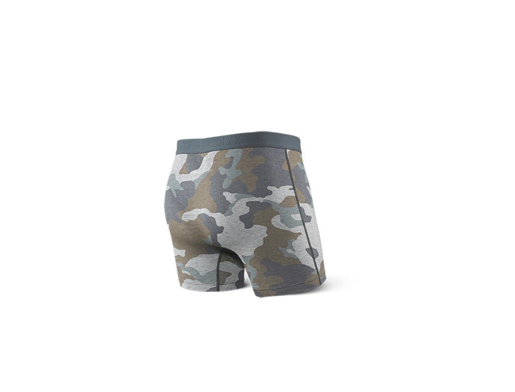 Vibe Men's Boxer Brief - Grey Supersized Camo