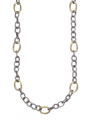 Twisted Link with Brass Rings Chain