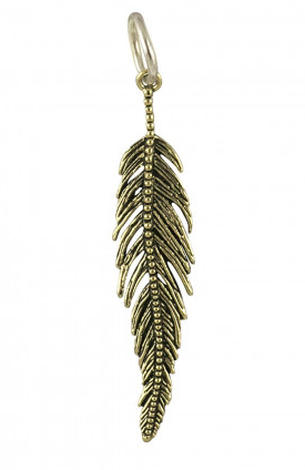 Light As a Feather Pendant - Brass