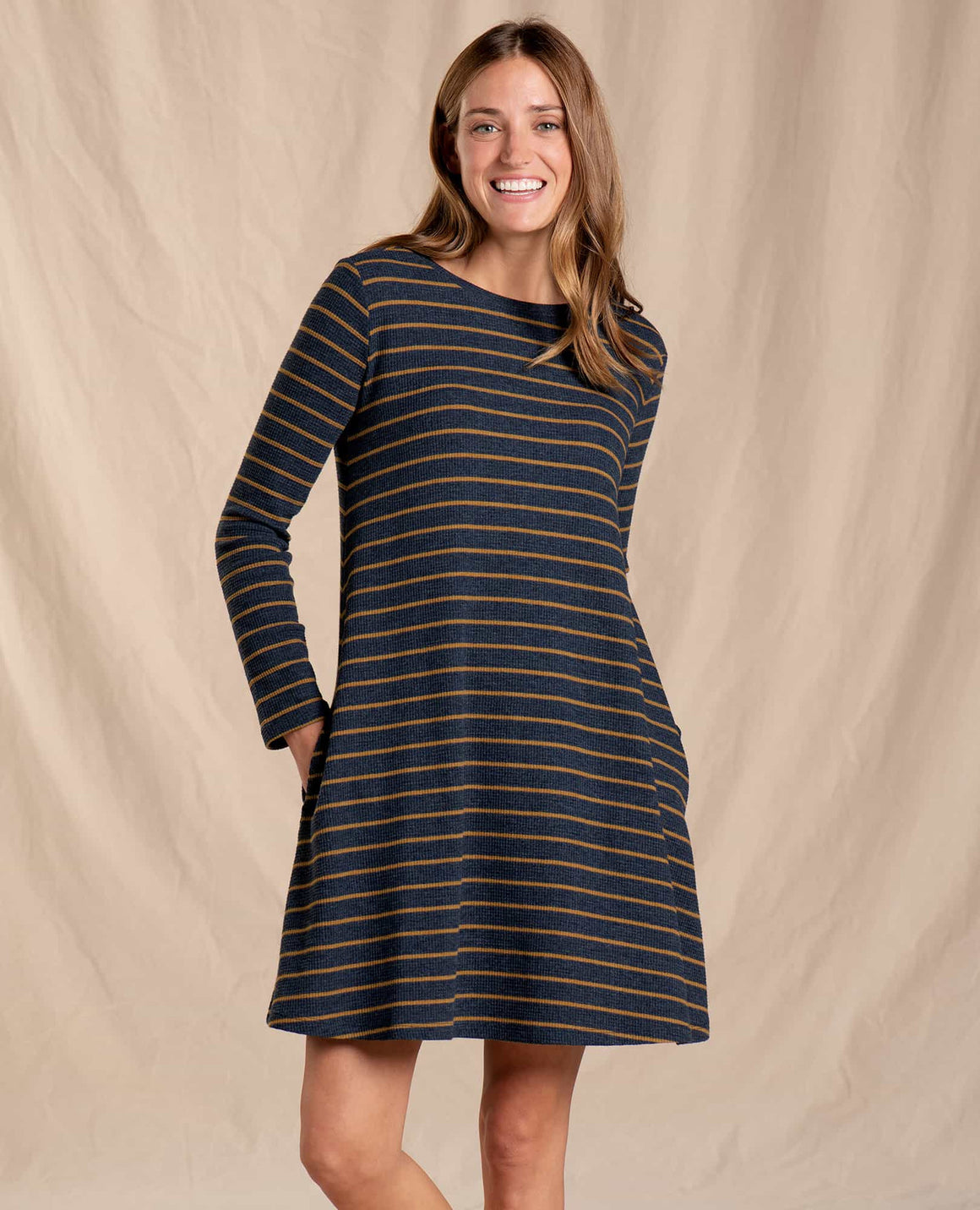 Foothill Long Sleeve Swing Dress