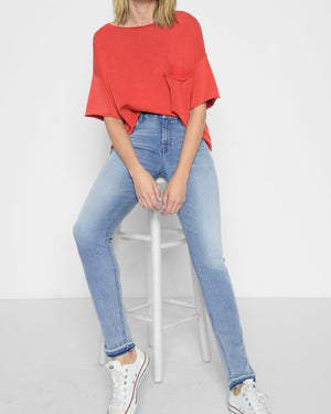 B(air) High Waist Skinny with released hem