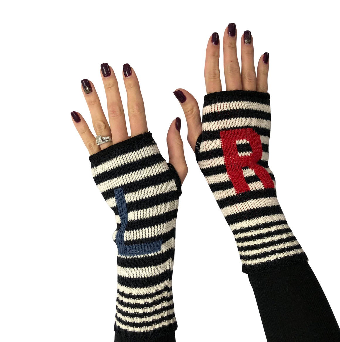 Hand Warmer Fingerless Gloves - L R