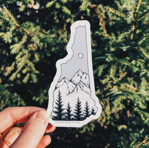 Strange Pine - New Hampshire Vinyl Sticker