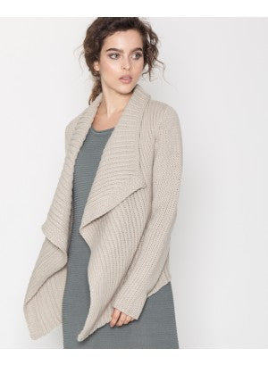 Front Draped High-Low Cardigan