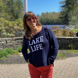 Lake Life Crew Cotton Sweater
