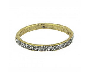 Krystal Hinge Bangle - Brass