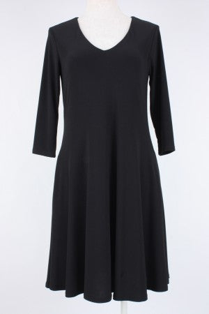 3/4 Sleeve Swing Dress with Pockets