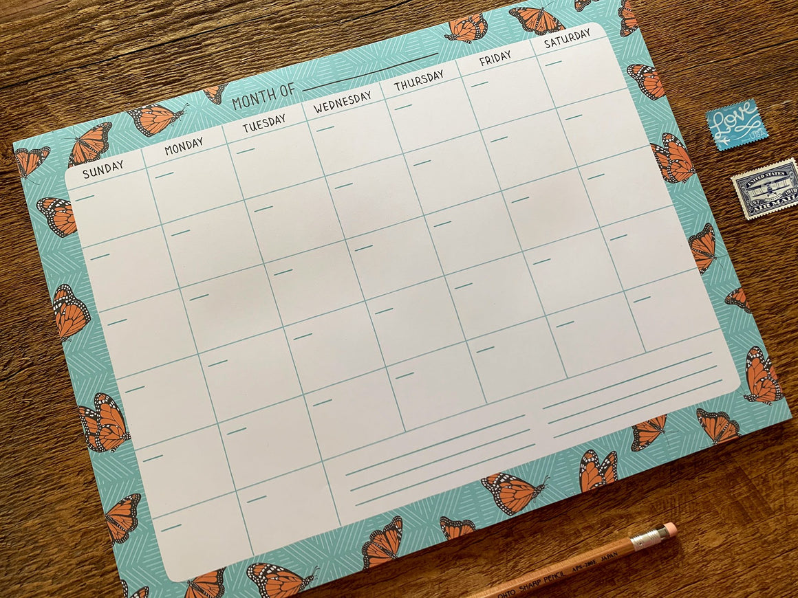 Monthly Desk Planner - Monarchs