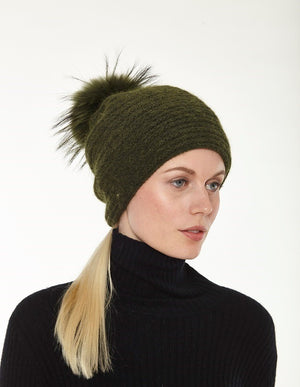 Braided Weave Pom Hat
