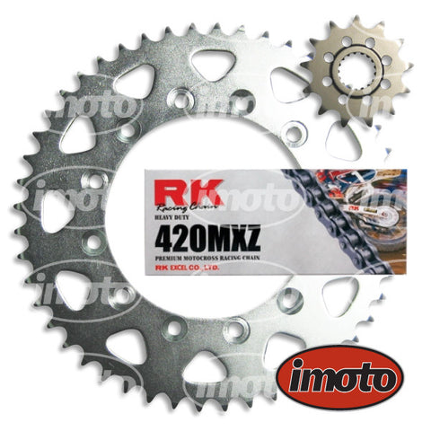 Chain & Sprocket Kit HONDA CR80 1986-2002 15/55