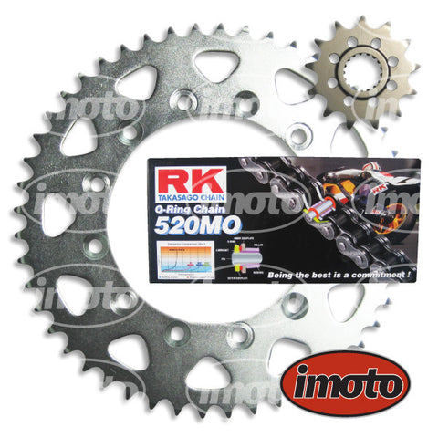 Chain & Sprocket Kit HONDA CBR250 RR MC22 ALL O-RING *520 conversion*