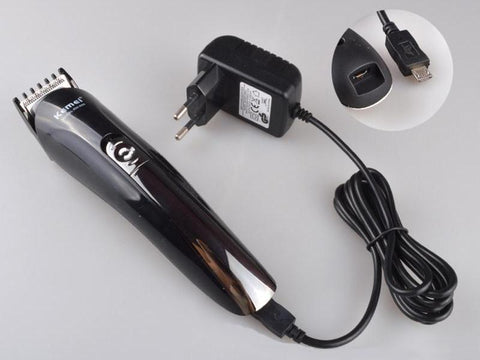 GearSupermart:6 in 1 Rechargeable Titanium Hair and Beard Trimmer