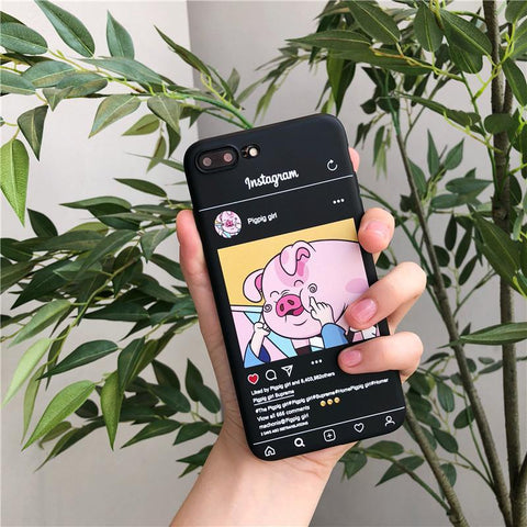 GearSupermart:Instagram Pigpig Girl iPhone Case