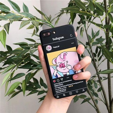 GearSupermart:Instagram Pigpig Girl iPhone Case:[variant-title]