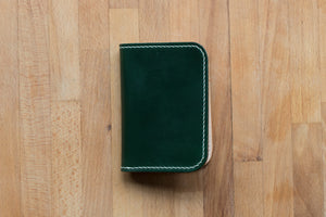 Monk Made x Worn & Wound Minimalist Bifold - Emerald