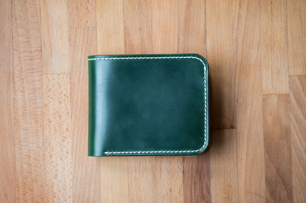 Monk Made x Worn & Wound Wallet - Emerald