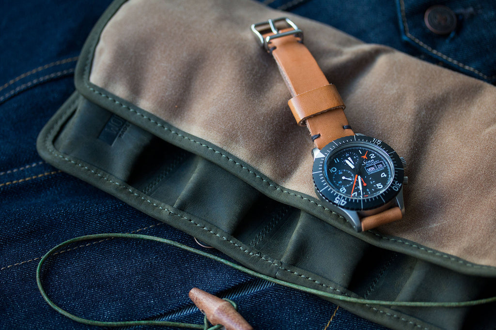 Watch Roll - Waxed Olive