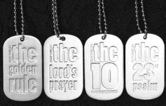 The DOG TAG SET (4 key scriptures - 1 FREE!)