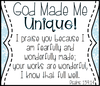 #26 - God made us - in his image! We are unique and treasured!