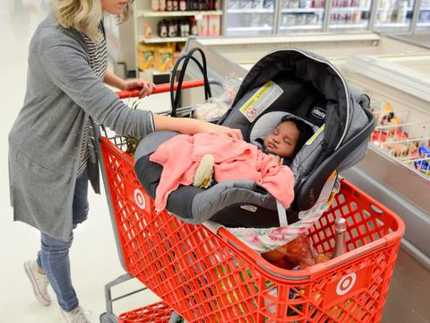 How to Go Grocery Shopping With a Car Seat