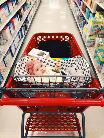 First Time Grocery Shopping With a Newborn: What To Expect
