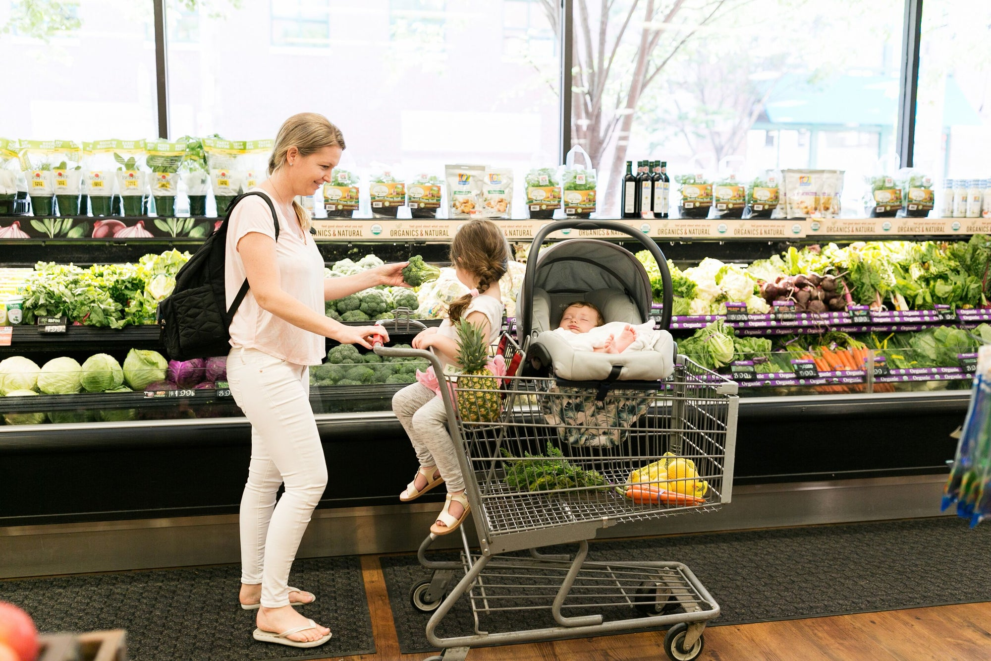 Transitioning from One to Two: Your First Time Grocery Shopping with a Toddler and Newborn