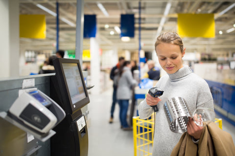 woman shopping at IKEA