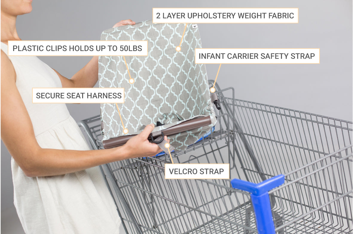 how to put car seat in grocery cart