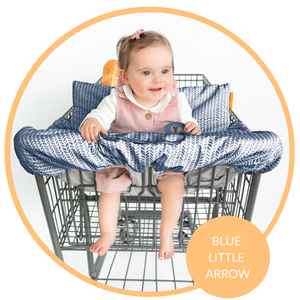 Baby Shopping Cart Cover - Blue Little Arrows Design