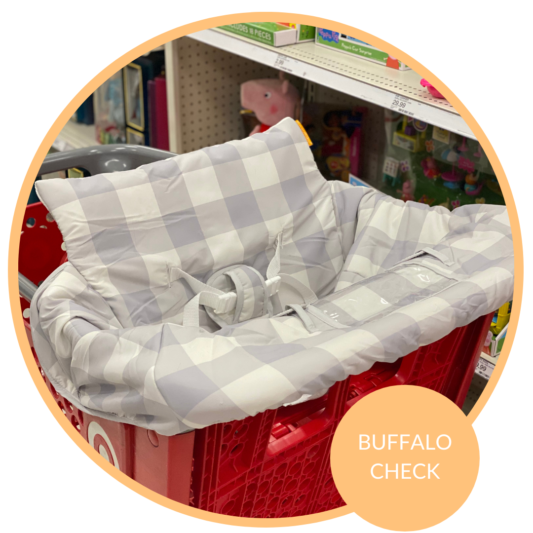 Baby Shopping Cart Cover - Buffalo Check
