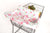 Baby Shopping Cart Cover - Full Bloom Watercolor Floral Print - clear plastic pouch with attached toy rings