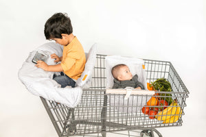 Baby Shopping Cart Cover - Little Arrows Design - cover and hammock with room for groceries