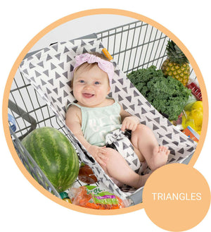 Baby Shopping Cart Hammock - Triangles