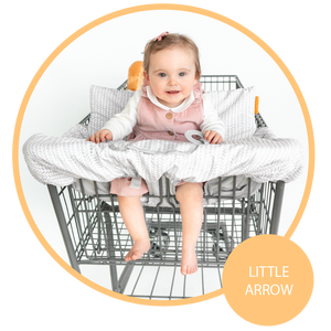 Baby Shopping Cart Cover - Little Arrows Design