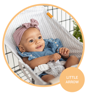 Baby Shopping Cart Hammock - Little Arrow Design