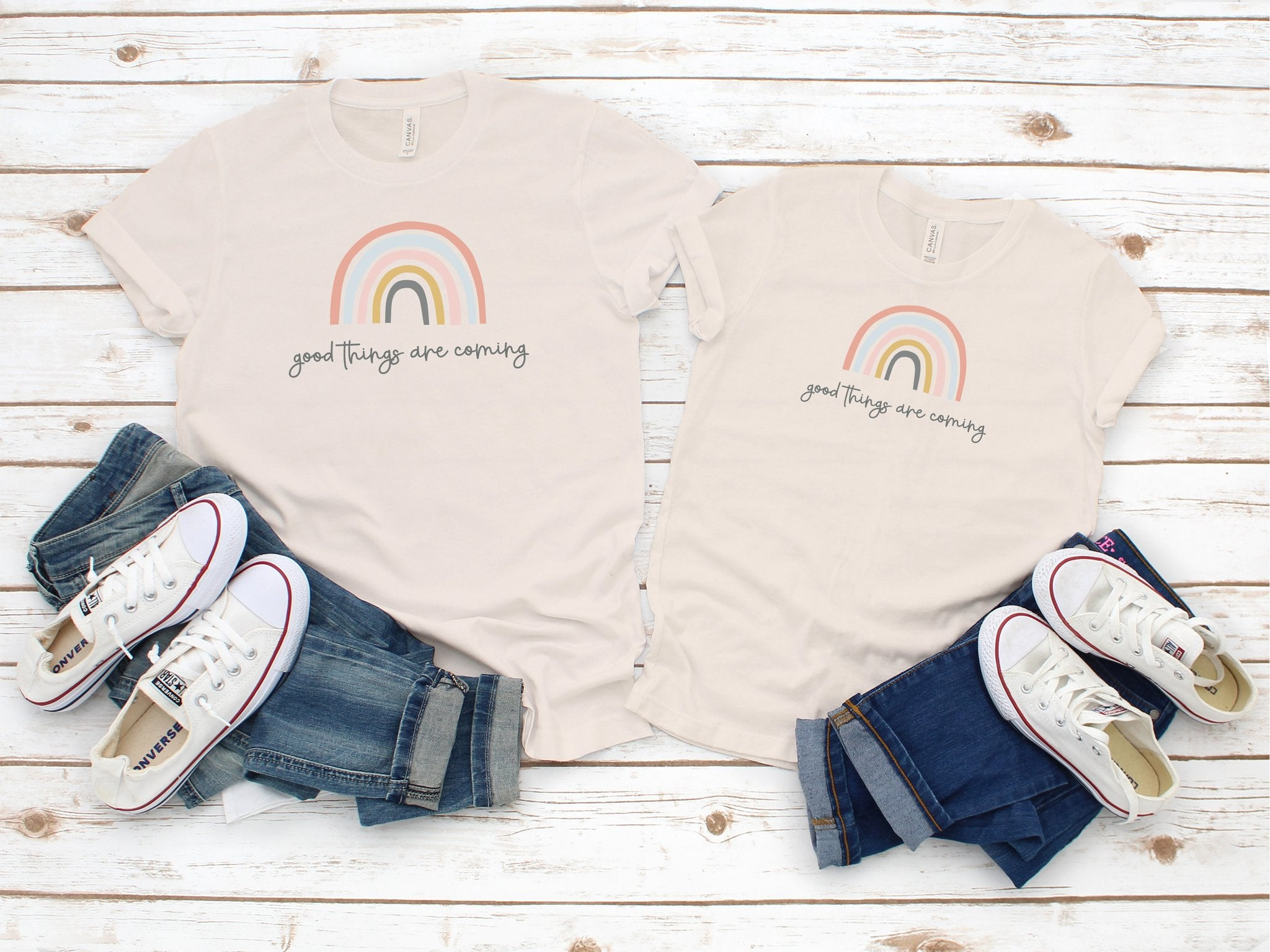 rainbow mommy and me tshirt
