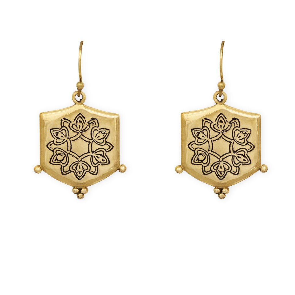 Abundance earrings - brass - Celeste Twikler